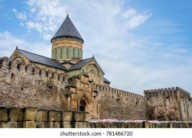 Svetitskokheli orthodox cathedral and monastery from 11th century, Mtskheta, Georgia