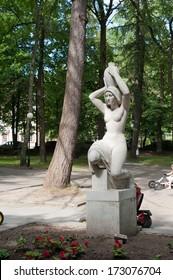 SVETLOGORSK, RUSSIA - JULY 21, 2013:Sculpture by Hermann Brachert in the city park