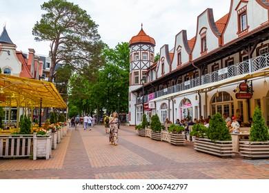 Svetlogorsk, Russia, June 24, 2021. Typical urban architectural ensemble