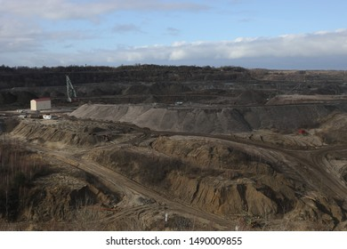 SVETLOGORSK, RUSSIA-MARCH 10, 2019: Amber mine in Kaliningrad region