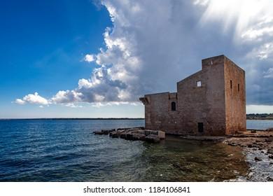 Sveva tower in Vendicari reserve, Sicily, Italy