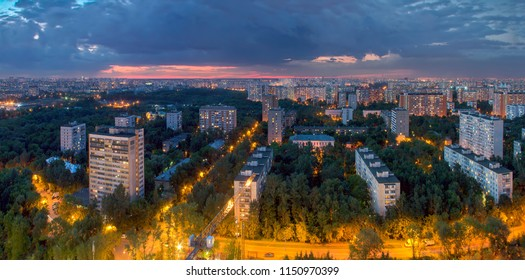 Sviblovo District is an administrative district of North-Eastern Administrative Okrug, and one of the raions of Moscow, Russia. View above.