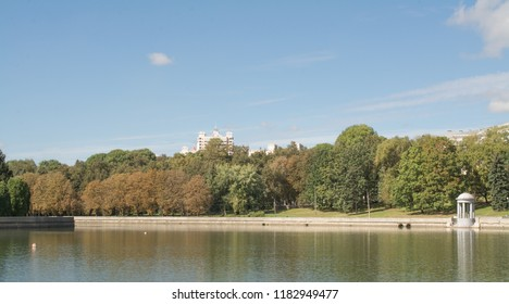 Svisloch river landscape in Minsk, capital of Belarus