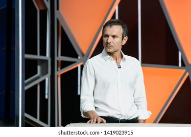 Svyatoslav Vakarchuk, Ukrainian singer and founder of the Okean Elzy band,  presents his new political  party Holos (Voice) in Kyiv, Ukraine, 07-06-2019.