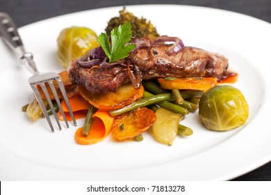 swabian steak with roasted onion rings