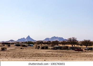 SWAKOPMUND, NAMIBIA AUGUST 02, 2018 House in the Mondesa slum of Swakopmund