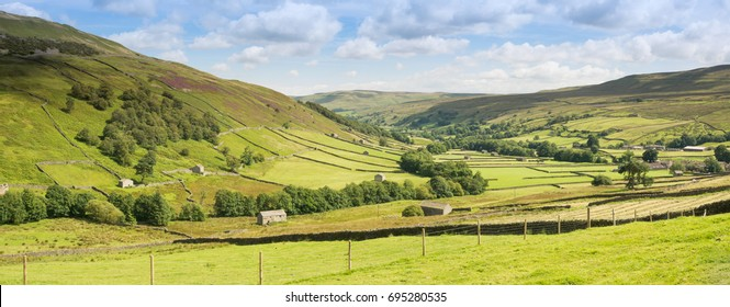 Swaledale in the Yorkshire Dales, panorama