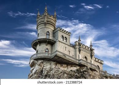 Swallow's nest castle, Crimea, Russia. Medieval knight's castle.