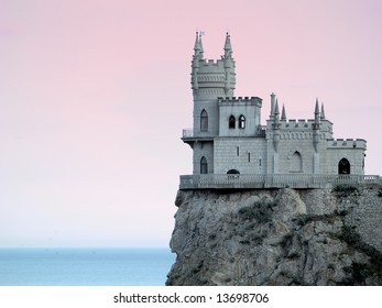 Swallow's Nest Castle Side-view in Sunset gradient filter