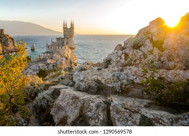 The Swallow's Nest is a decorative castle located at Gaspra, Crimea