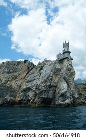 Swallow's Nest is a decorative castle the monument of architecture and history, the main attraction on the shores of the Black sea of the city Yalta, Ukraine.