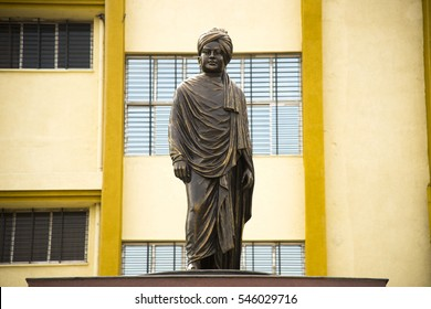 Swami Vivekananda statue, Statue of Swami Vivekananda (1863 - 1893). The Guru and spiritual leader traveled to Europe and America to spread Hindu philosophy.