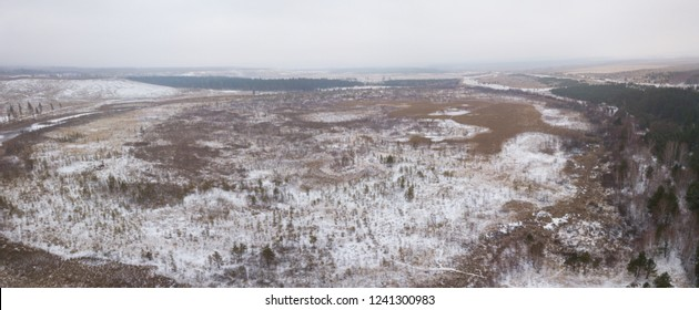 swamps near Syzran craters after relict epoc