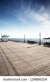 swanage pier showing lot of plaques with engraved with a messages