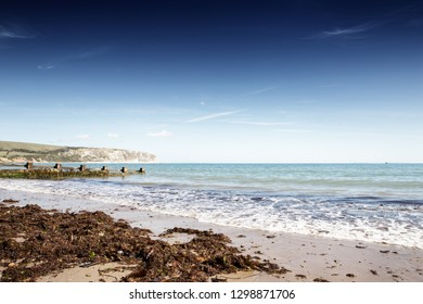 swanage seascape image looking out to sea