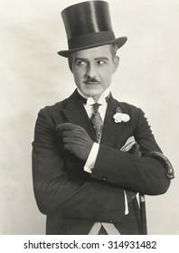 Swanky gentleman in top hat