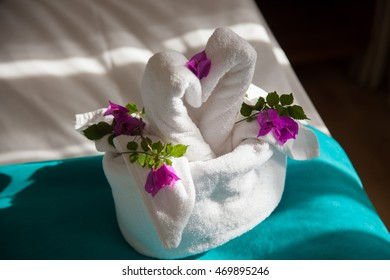 Towel origami swan images stock photos vectors shutterstock swans origami bedding at the hotel mightylinksfo