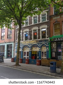 Swansea, UK - Aug 27, 2018: The Bucket List Pub, 19 Wind Street Swansea