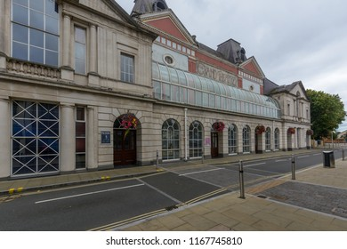 Swansea, UK - Aug 27, 2018: Swansea Grand Theatre, view from Singleton Street