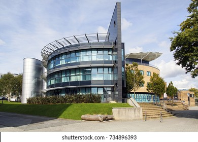 Swansea, UK: September 19, 2017: The Digital Technium building at Singleton Campus is being considered for demolition to make way for a more appropriate 21st century building with better facilities