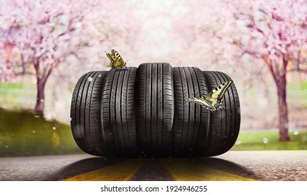Swap summer tires for winter  tires - time for summer tires
