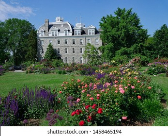 SWARTHMORE, PENNSYLVANIA - MAY 2019:  Swarthmore is one of the best small colleges in the United States, with a beautifully landscaped campus.