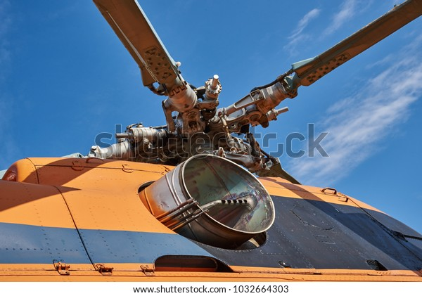 Swashplate Rotor Blades Helicopter Exhaust Pipe Stock Photo (Edit