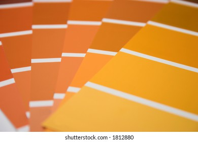 Swatch selection - shallow depth of field