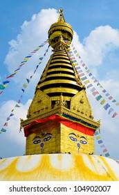 Swayambhunath Monkey Temple in Kathmandu, Nepal