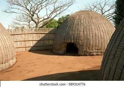 Swazi village, Swaziland