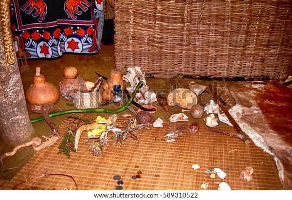 Swaziland July 15 Sangomas Hut On Stock Photo (Edit Now) 589310522