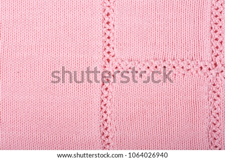 b32256d33a6 Sweater or scarf fabric texture large knitting. Knitted jersey background  with a relief pattern. Wool hand- machine, handmade - Image