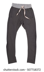 Sweatpants isolated on white with clipping path