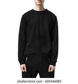 Sweatshirt on the man frontally