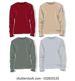 Sweatshirt set illustration.
