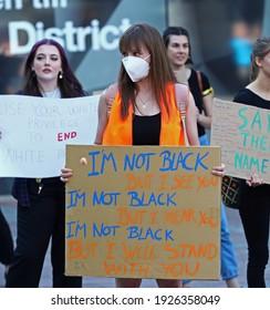 LINKÖPING, SWEDEN- 10 JUNE 2020: Black lives matter-manifestation at Gyllentorget in Linköping. Photo Jeppe Gustafsson
