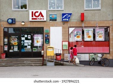 TJÄLLMO, SWEDEN- 3 JULY 2012: A small country store, ICA store. Photo Jeppe Gustafsson