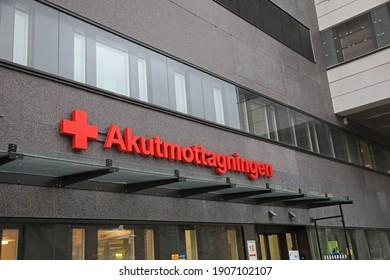 LINKÖPING, SWEDEN- 7 OCTOBER 2017:  Emergency clinic at the University Hospital (US), Linköping. Photo Jeppe Gustafsson
