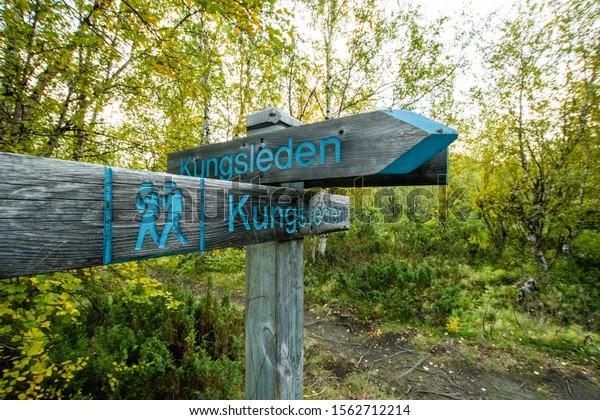 Sweden Abisko national park Kings road