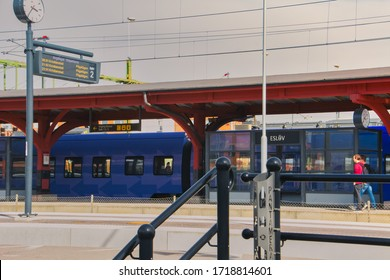 Eslöv, Sweden - April 24, 2020: Eslöv train station