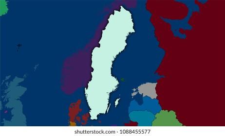 Sweden Outline Map Images Stock Photos Vectors Shutterstock