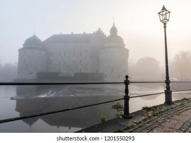 Sweden castle fog