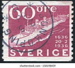 SWEDEN - CIRCA 1936: stamp printed by Sweden, shows Modern Swedish Liner, circa 1936