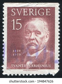 SWEDEN - CIRCA 1959: stamp printed by Sweden, shows Svante Arrhenius, circa 1959