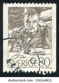 SWEDEN - CIRCA 1960: stamp printed by Sweden, shows Anders Zorn, circa 1960