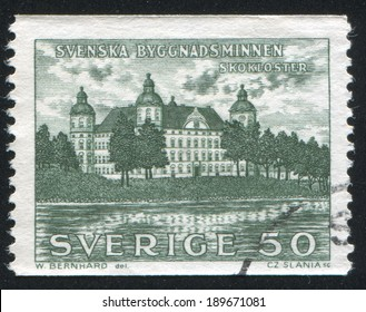 SWEDEN - CIRCA 1962: stamp printed by Sweden, shows Skokloster castle, circa 1962
