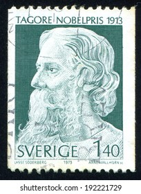 SWEDEN - CIRCA 1973: stamp printed by Sweden, shows Rabindranath Tagore, circa 1973
