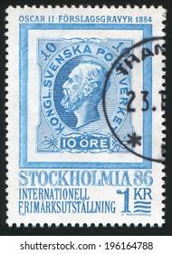 SWEDEN - CIRCA 1983: stamp printed by Sweden, shows Oscar II, circa 1983