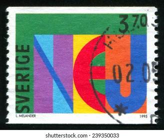 Sweden - CIRCA 1995: stamp printed by Sweden, shows emblem, circa 1995