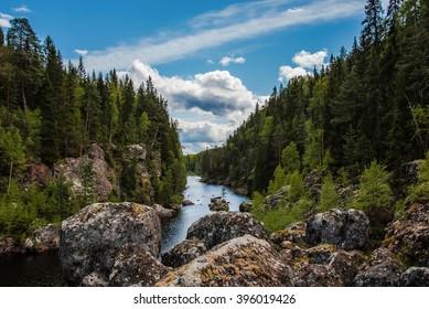 Sweden famous ''The dead waterfall', Sweden